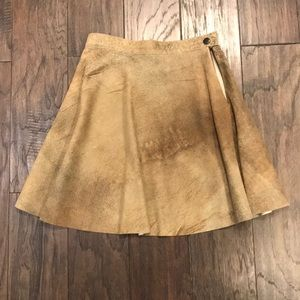 American Apparel Leather Suede Skirt
